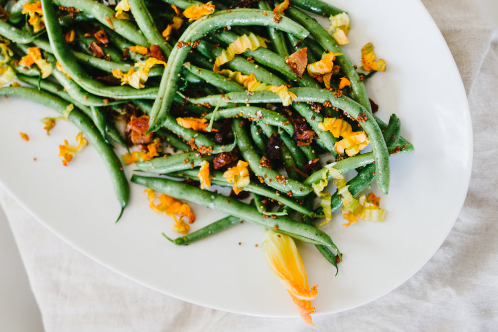 Summer Green Bean Bacon Salad