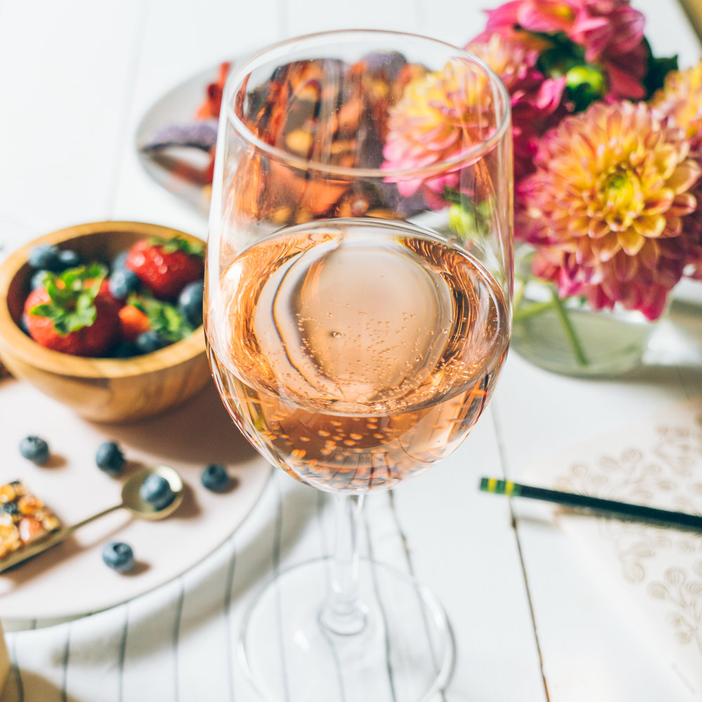 fall rose wine