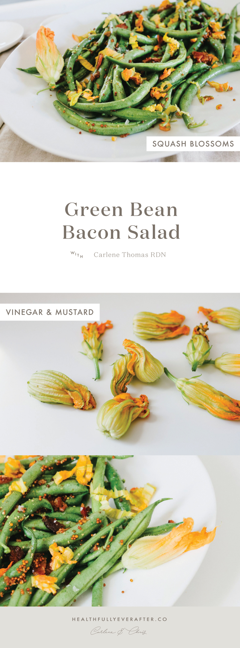green bean bacon squash blossom salad recipe