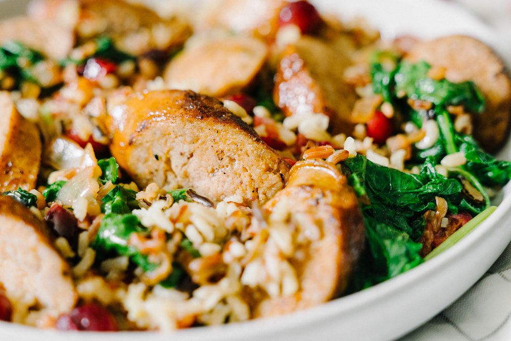 Fresh Cranberry, Wild Rice & Kale Pilaf - #FreshCranFriday