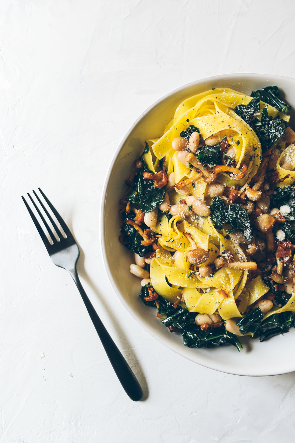 Winter White Bean Kale Pappardelle Pasta