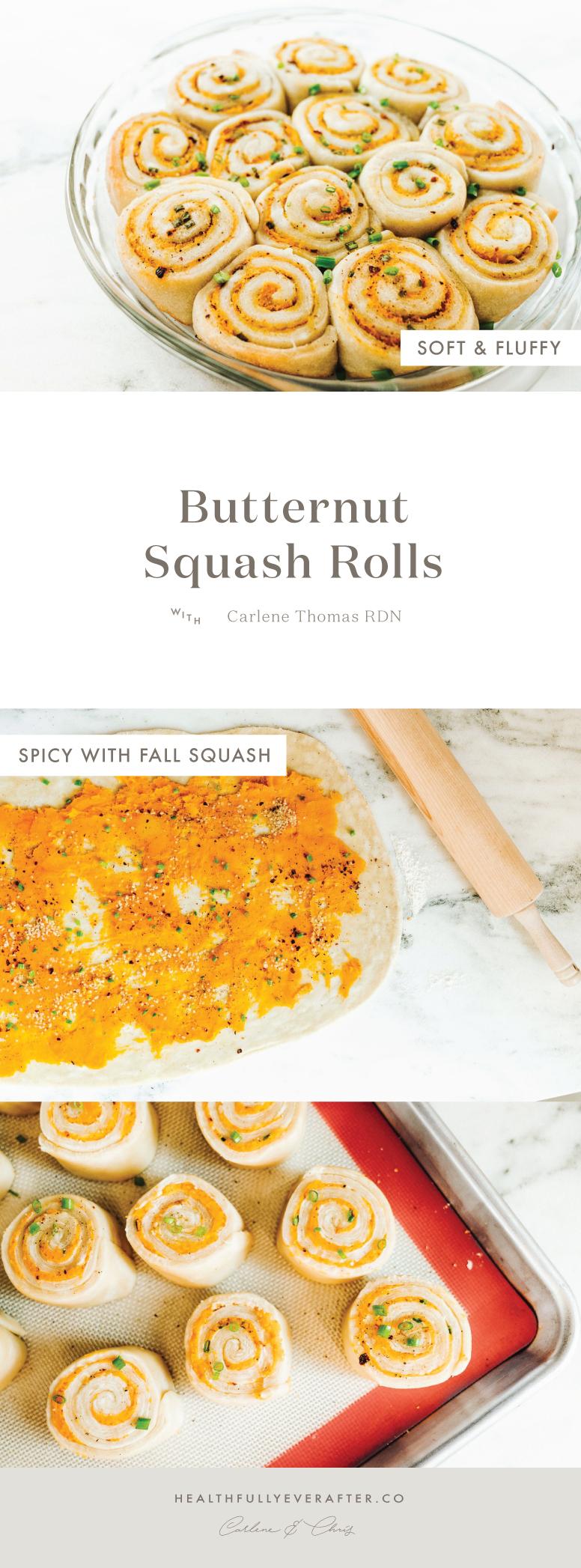butternut squash soft swirl yeast rolls