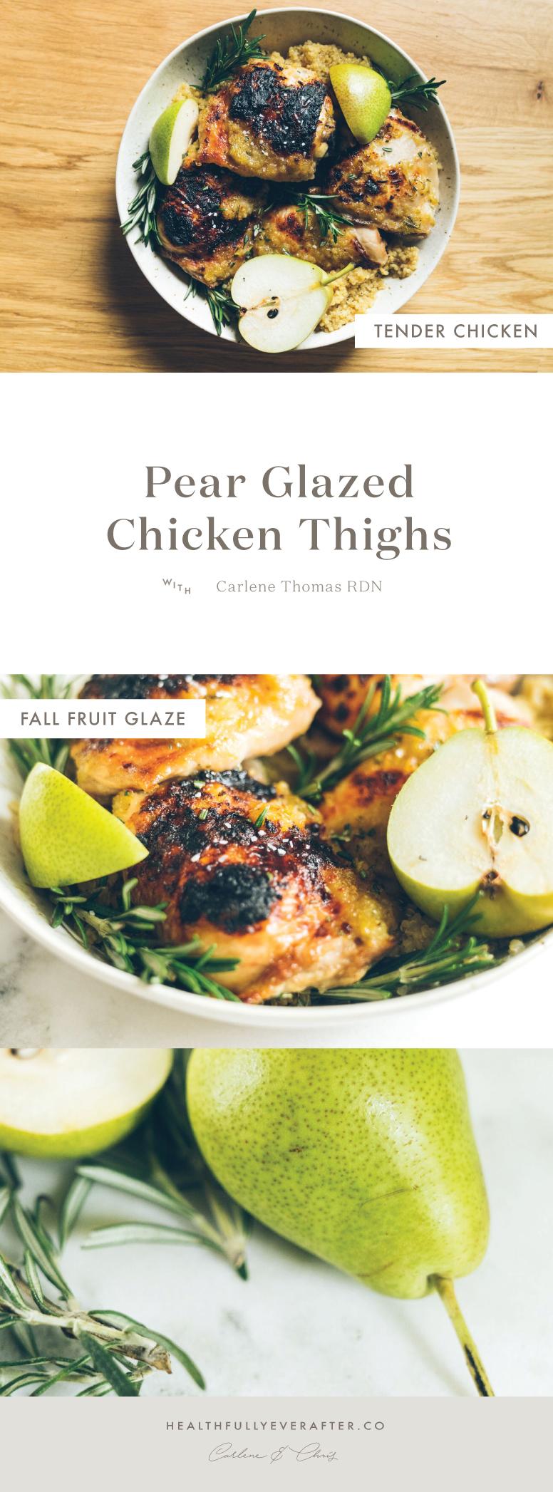 fall pear glazed chicken with quinoa
