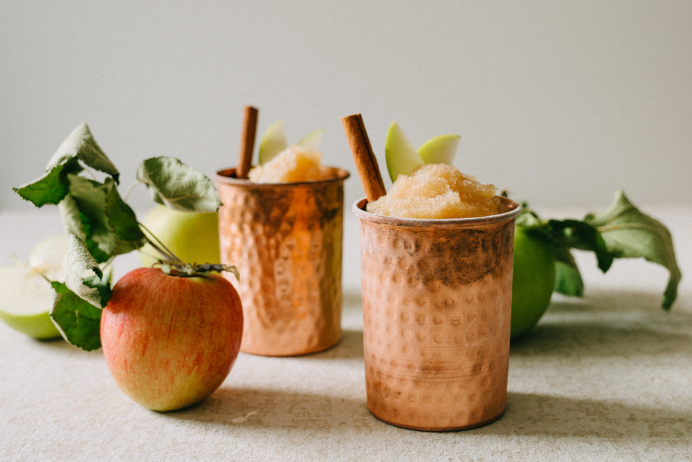 frozen apple cider slushee cocktail