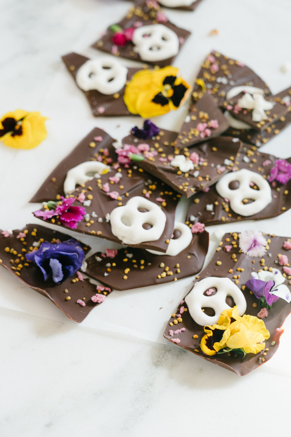 Adaptogen Spring Chocolate Bark