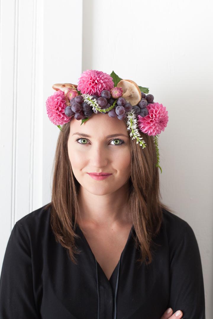 dahlia flower crown