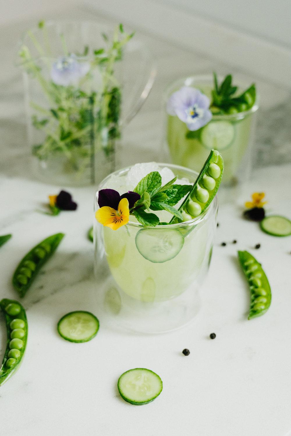 Lemon Herb Spring Garden Margarita -botanical flavors
