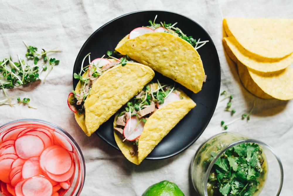 Steak Salsa Verde Tacos