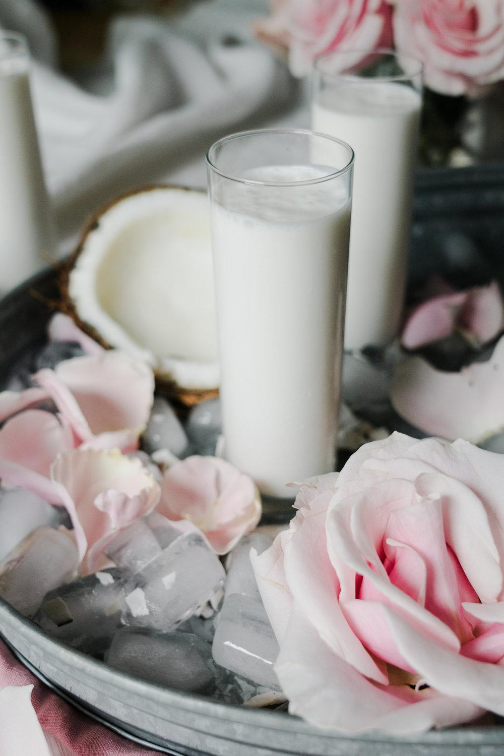 Coconut Rosewater Lassi