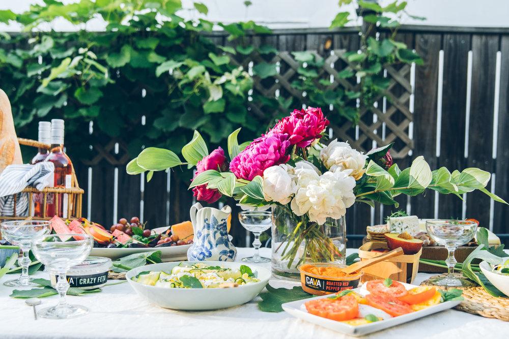 virginia summer alfresco dinner