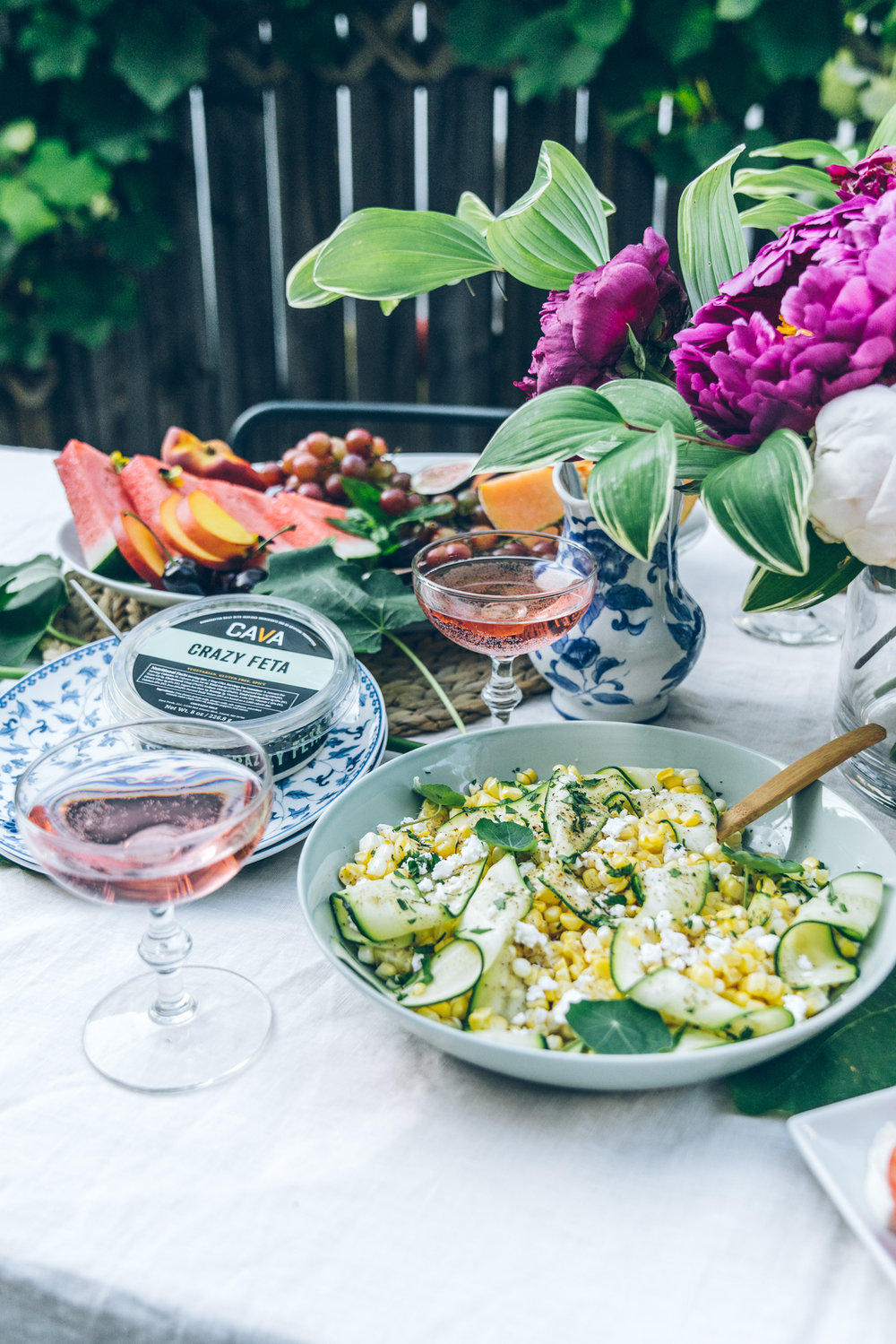 virginia summer outside dinner - alfresco dining