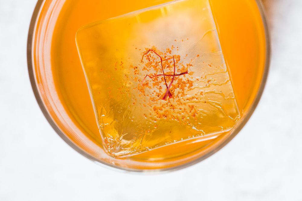 Saffron Paprika Punch Cocktail: Sous Vide Infusing Rum