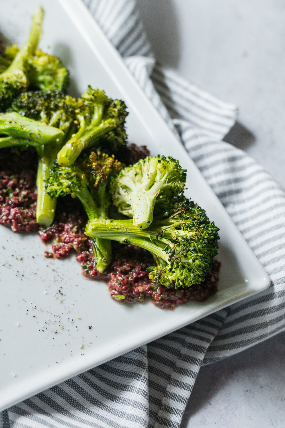 Roasted Broccoli with Olive Tapenade