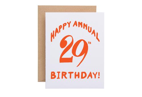 Annual 29th Birthday Card Sparkvites