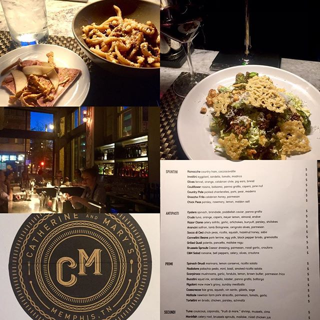 Incredible authentic Tuscan and Sicilian Italian in Memphis at the grand opening of Catherine and Mary's at the old Chisca Hotel. It's a great new addition to downtown from Andy Ticer and Michael Hudman. @catherine_marys @choose901 @downtownmemphis #foodporn #forkgasm #authenticitalian