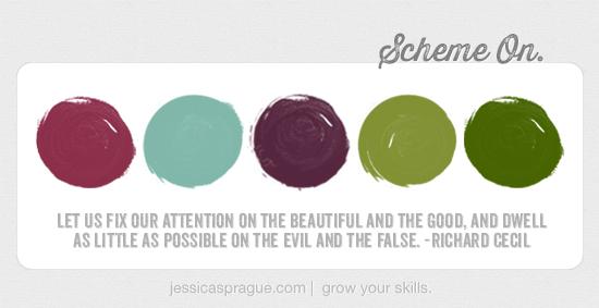 {Color} Scheme On, by Jessica Sprague