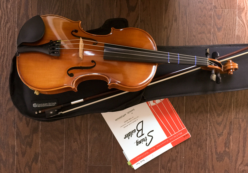 "My violin, and ""The Red book"""