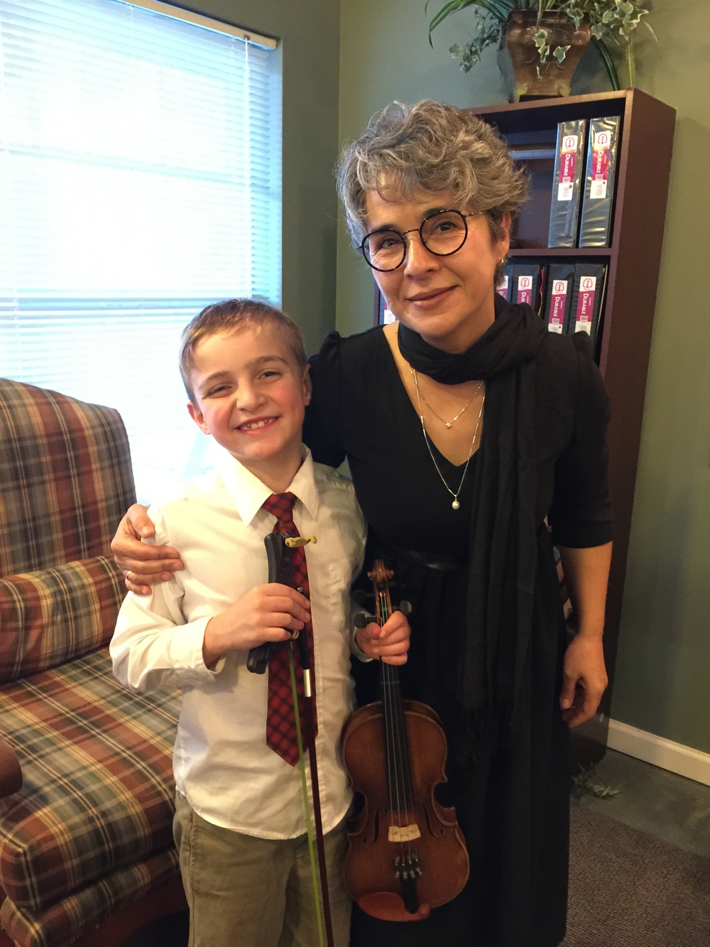 Ms. Petia. at Elliott's recital, december 2015