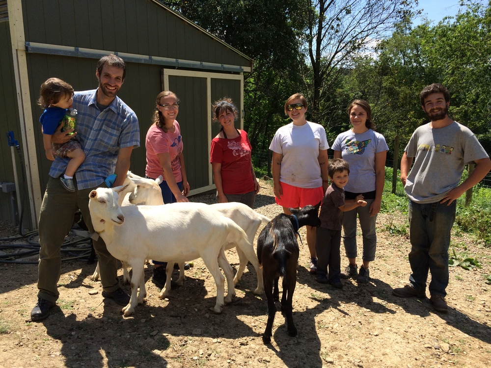 jake & the crew of apprentices from Grow Pittsburgh regularly visit the farm