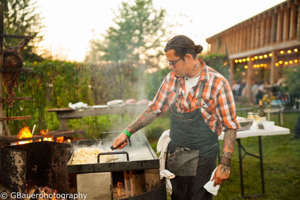 Anthony Falcon, chef/owner, Gaucho Parrilla Argentina, grilling up the goodies at the 2016 CVF Gaucho dinner