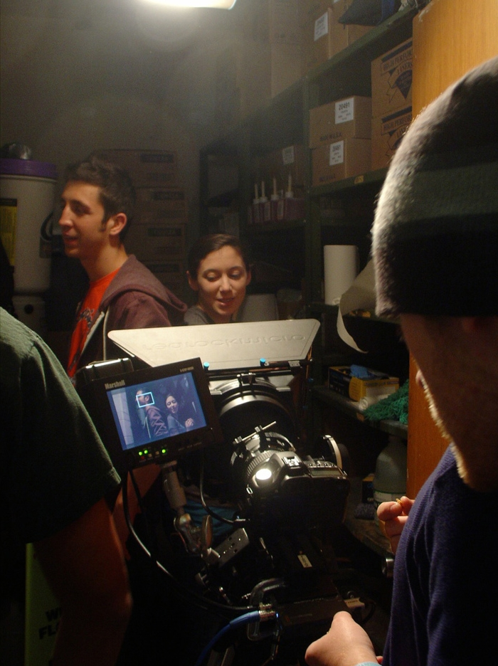 On the set of  Jess Archer Vs. the Ex