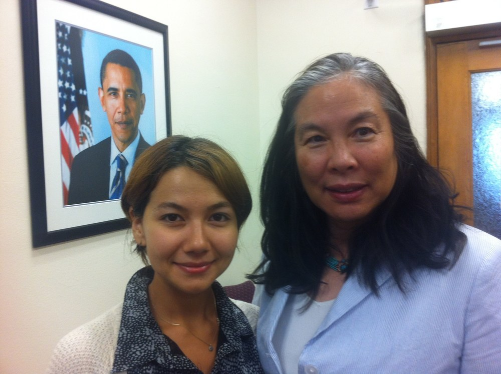 Natasha Kim and internship curator Dr. Vivian Chen from the USDA White House Initiative on Asian Americans and Pacific Islanders
