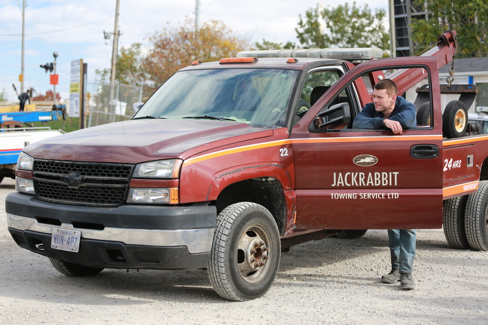 Brian J. Smith (Ben) at his Jackrabbit truck. Photo by Ramona Diaconescu.