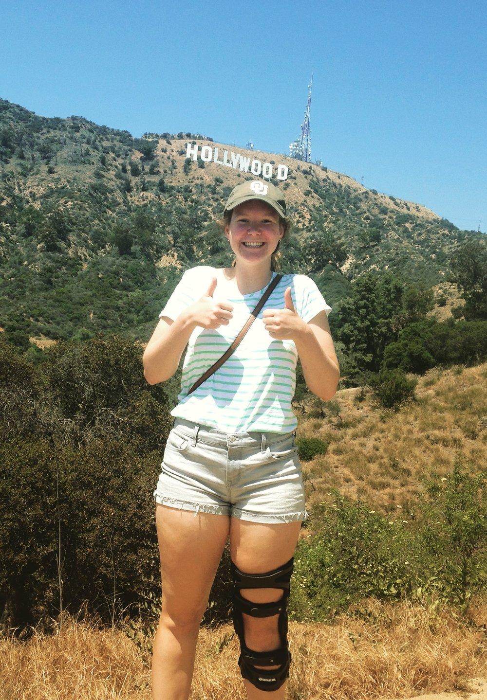Savannah Heller, Senior HTC/BFA student, enjoying the life in sunny Los Angeles.