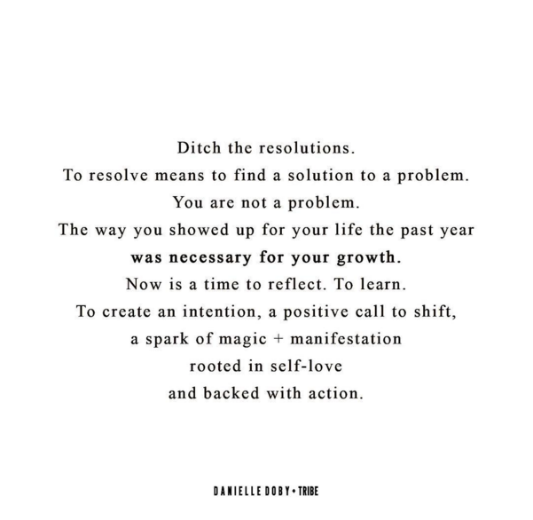 ditch the resolutions