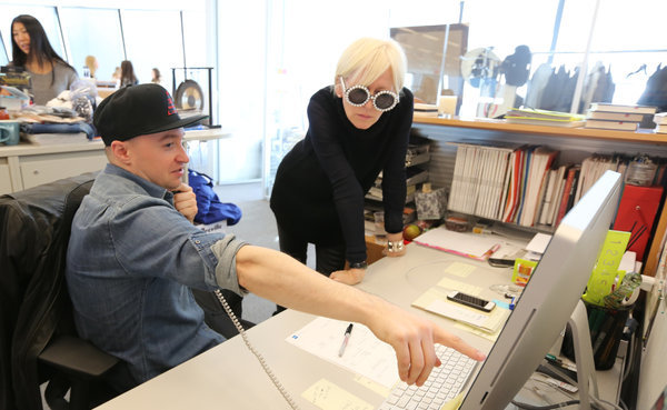 Sergio Kletnoy, executive assistant to the Cosmopolitan editor, Joanna Coles photo :Chester Higgins Jr./The New York Times