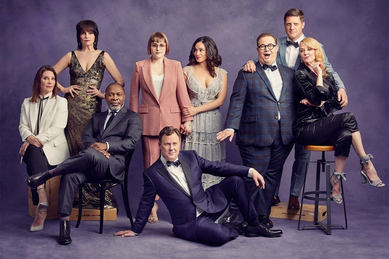 The Broadway cast of  The Prom  (photo by Nathan Johnson for Vanity Fair)