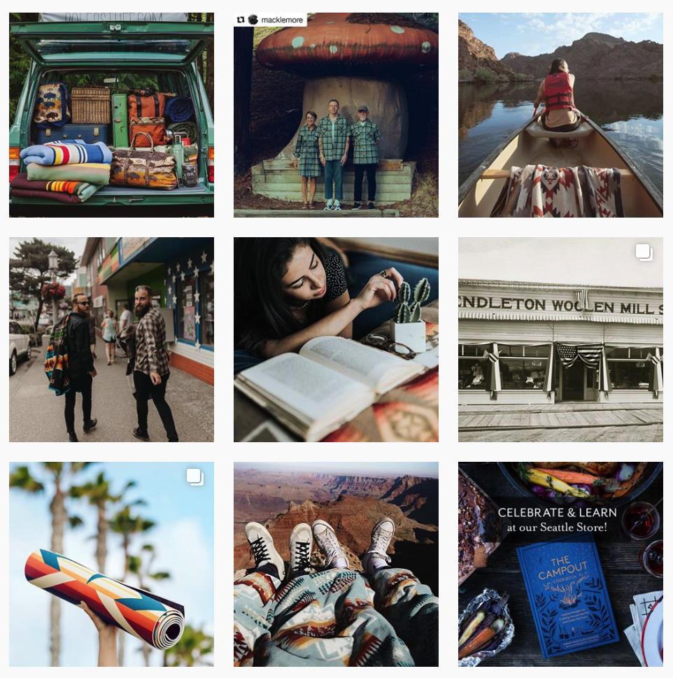 Pendleton Woolen Mills Instagram feed
