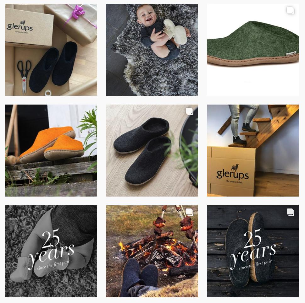 Glerups USA Instagram feed