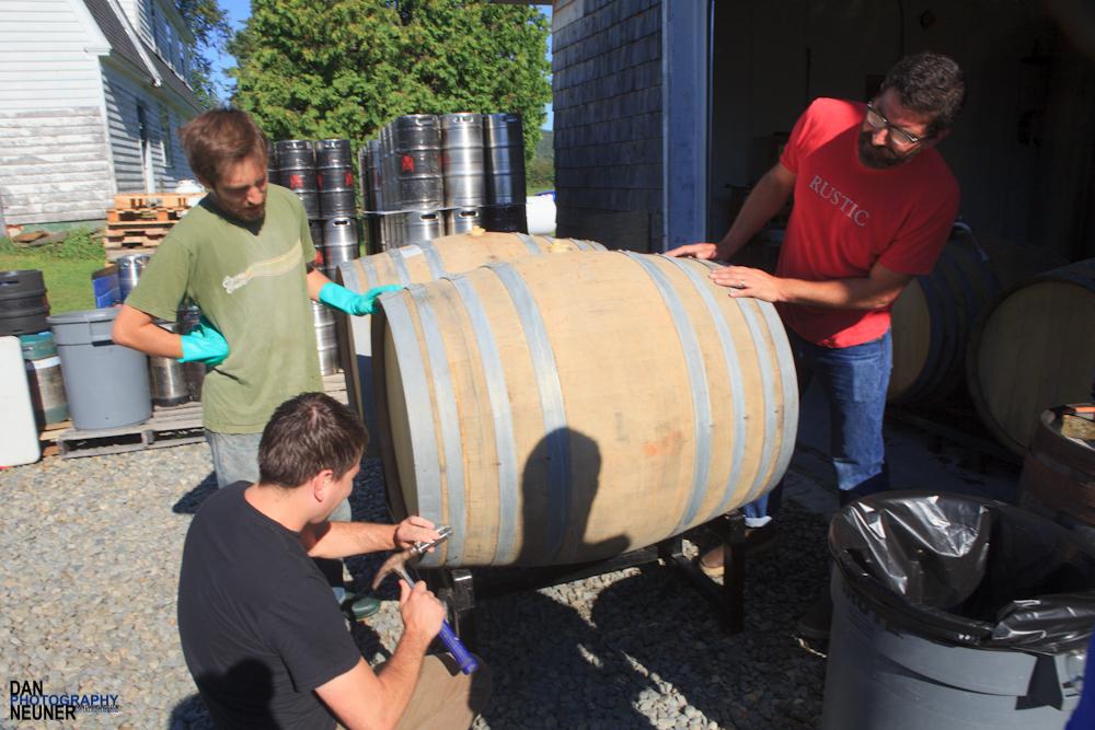 Opening the barrels from Sante Adarius