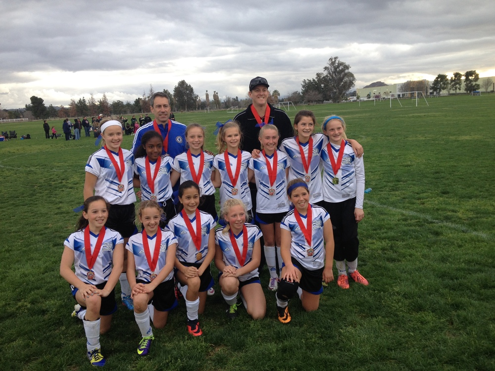 "The GU12 ""BOOM"" won Area, won Sectionals in Riverside, and now advance to the State Finals!  Coached by Mike Pappas and Terence Stevens."