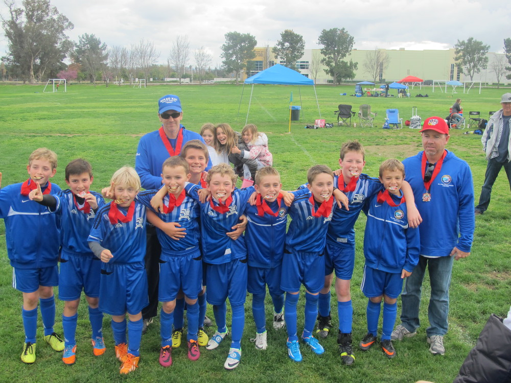 "Congratulations to the BU10 ""MB Blue"" for winning Sectionals in Riverside after winning the Area Tournament.  They now advance to Bakersfield for State Finals.  The team is coached by Mark Sprague and Greg Meidroth."
