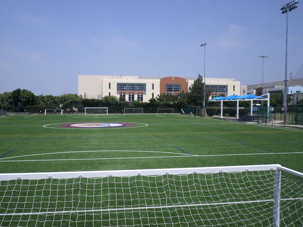 On July 26, 2014, The City of Manhattan Beach completed the installation of the sun shade over the bleachers on the East side of the pitch.