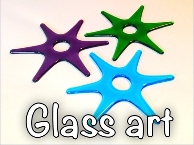 The fused glass, stained glass, and glass jewellery we make.