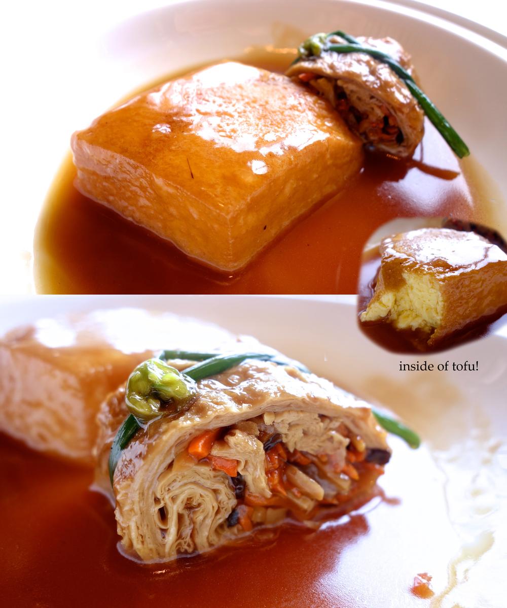 Dish 4: Braised homemade tofu, vegetarian goose