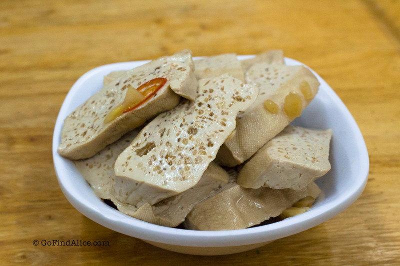 豆干 Dried tofu (NT$30)
