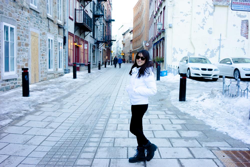 Me on Rue du Petit-Champlain