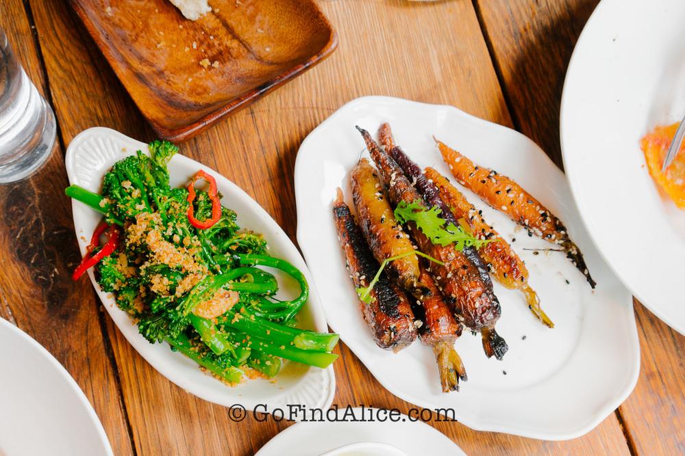Broccolini & roasted carrots