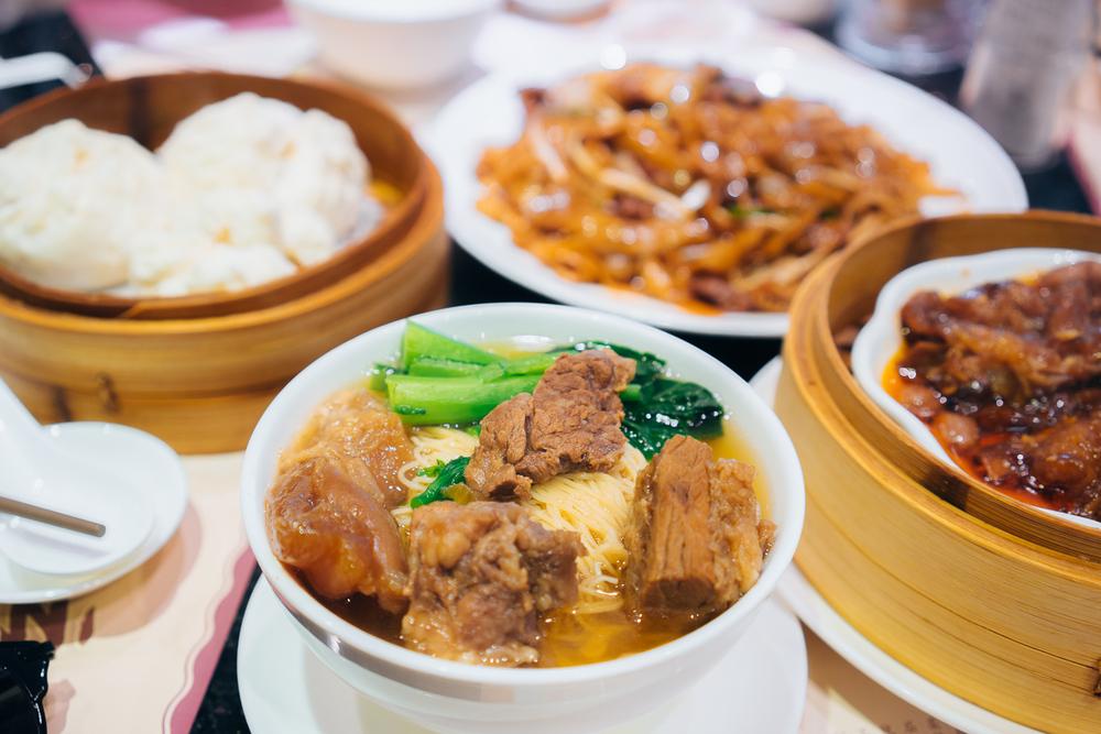 Beef brisket noodles (原汁柱侯牛腩面) & others