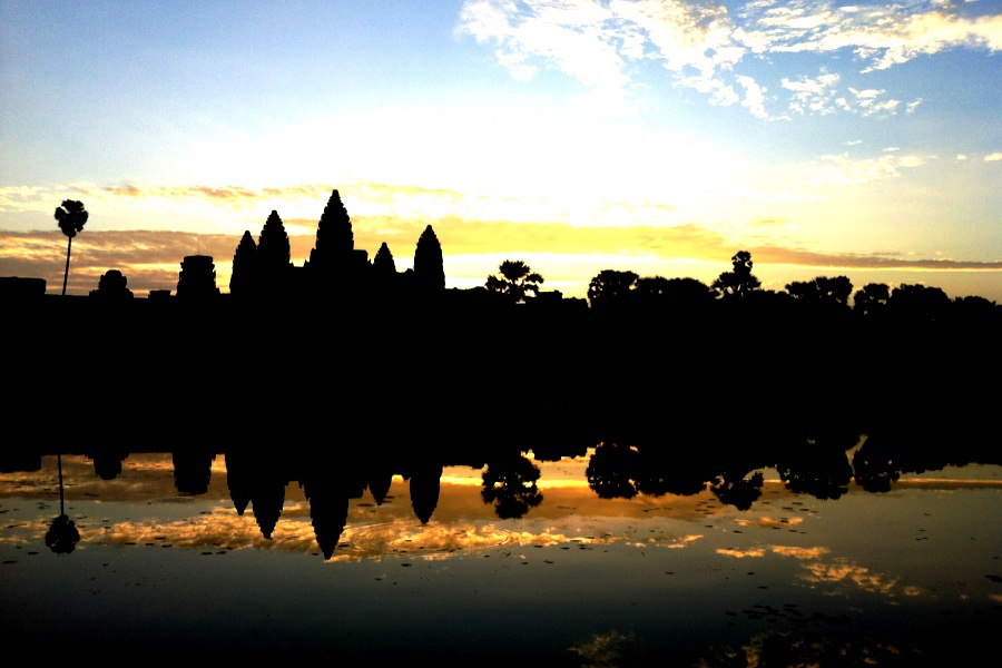 Sunrise in Angkor Wat, Cambodia