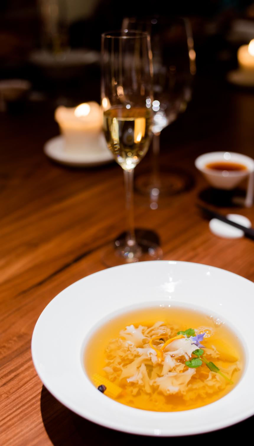 """Lotus Fungus"" (荷仙菇) soup"