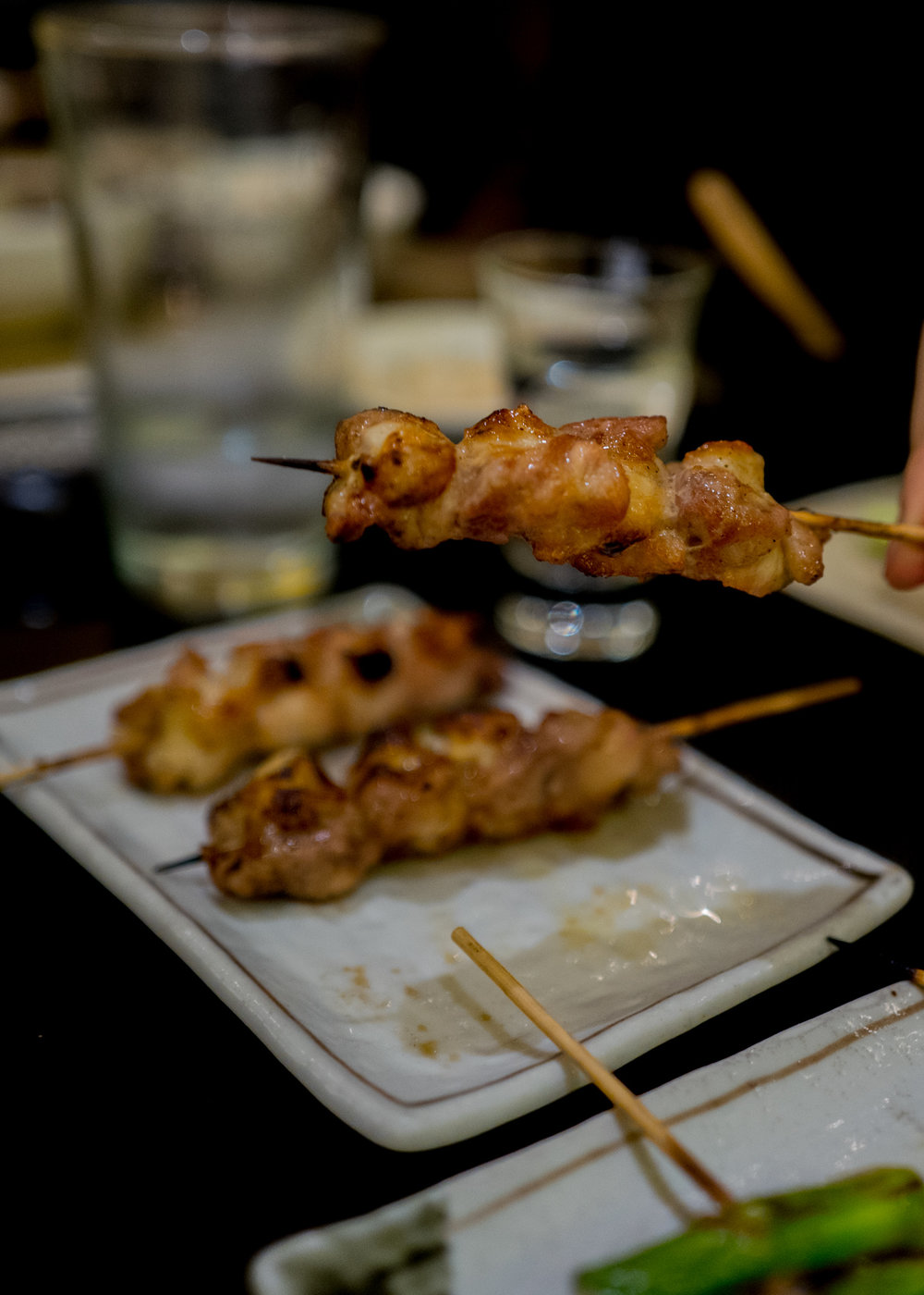 Chicken tendon skewers! One of my favorites!