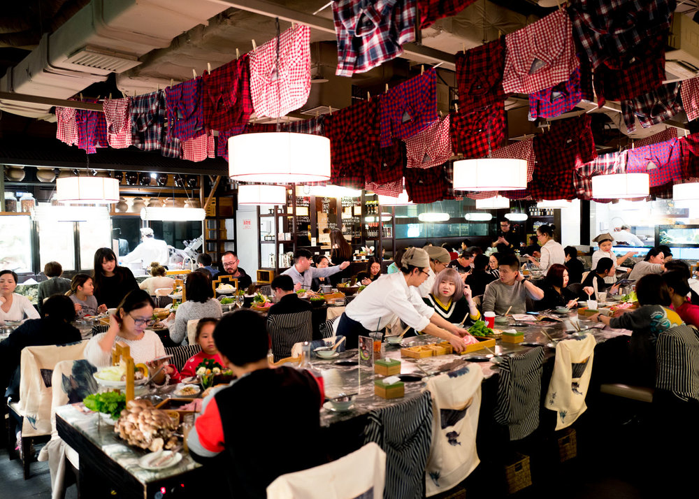 Restaurant Interior of JingAn (Reel Department Store) Location