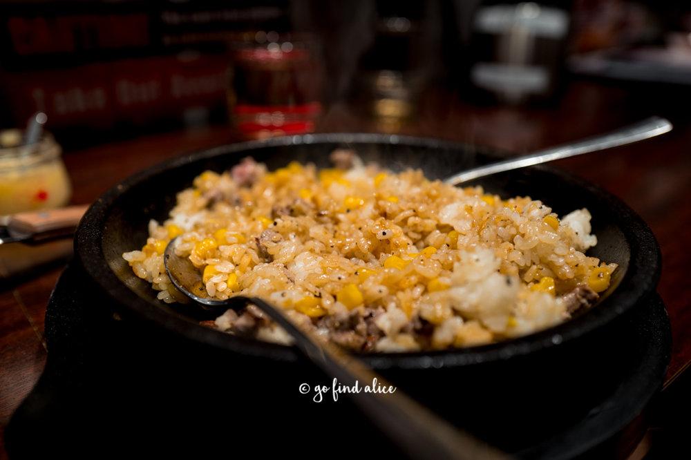 Ikinari Pepper Rice - fried rice mixed with corn,