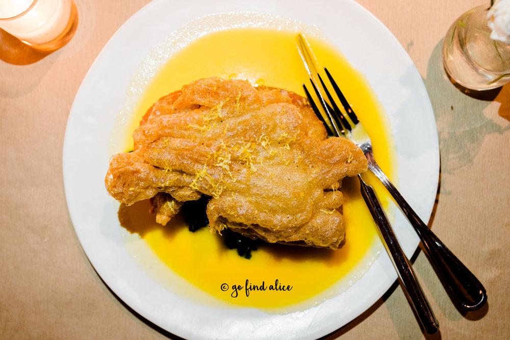 Fried Organic Chicken, Rainbow Swiss Chard, Hot Sauce Butter ($33)