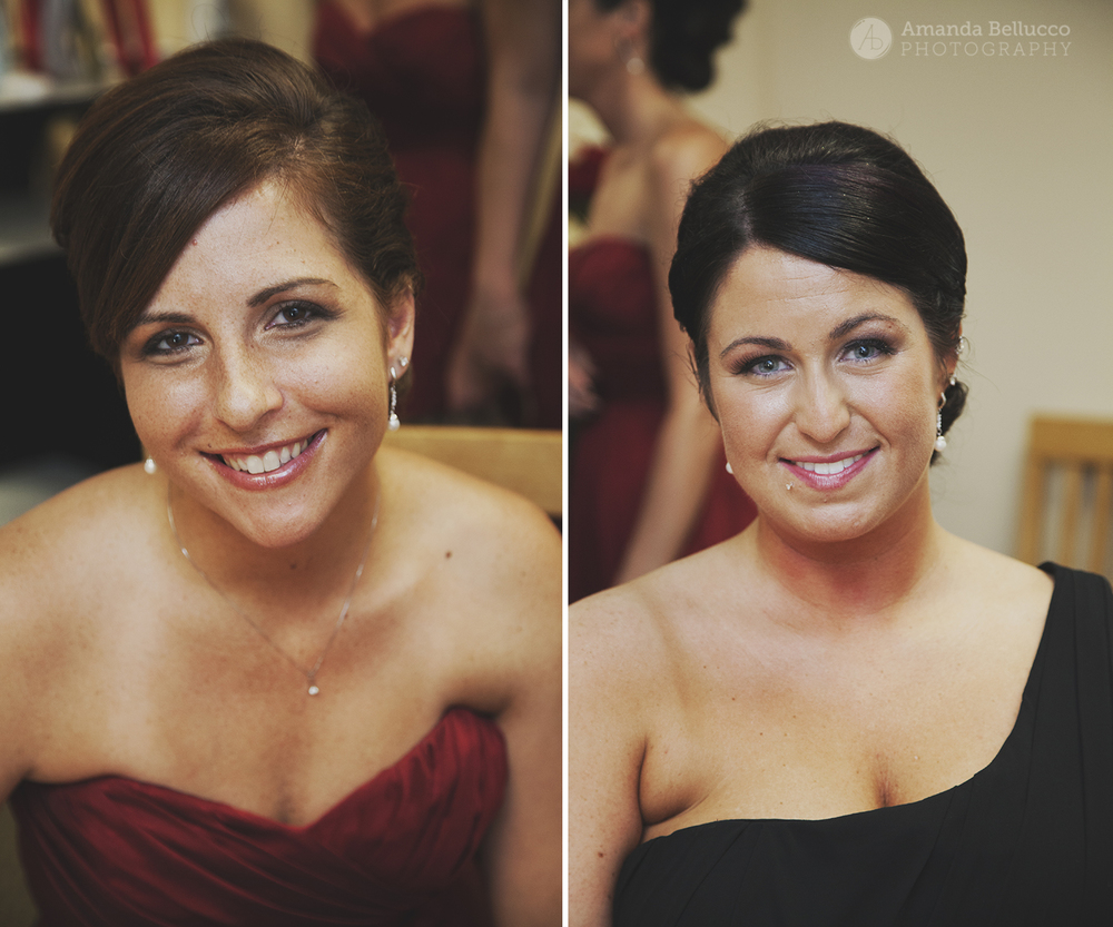 Bridesmaids portraits at the Italian American Community Center.